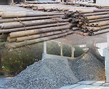 廃棄コンクリート電柱リサイクル