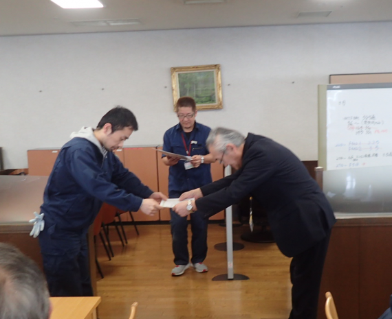 社長特別表彰受賞(2018年5月) イメージ
